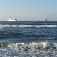Photo taken at Rethymno Beach by Katrin B. on 9/13/2012