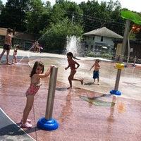Photo taken at Greenwood St Sprinkler Park by Lisa S. on 7/16/2011