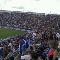 Photo taken at Estádio Joaquim Henrique Nogueira (Arena do Jacaré) by Dhionata M. on 10/16/2011
