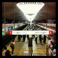 Photo taken at Midosuji Line Shinsaibashi Station (M19) by Celio B. on 6/21/2012