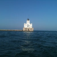 Photo taken at Milwaukee Breakwater Lighthouse by Jeffrey D. on 8/3/2012