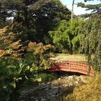 Photo taken at Jardins Albert Kahn by Mei Y. on 9/4/2012