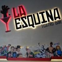 Photo taken at La Esquina Teatro Bar by Mauricio O. on 8/25/2012