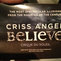 Photo taken at CRISS ANGEL Believe by Augusto G. on 5/13/2012