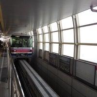 Photo taken at Osaka Monorail Hotarugaike Station by Toru F. on 5/6/2012