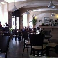 Photo taken at Sicily café by Shira A. on 4/23/2012