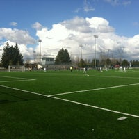 Photo taken at Newton Athletic Park by Nicole on 4/6/2012