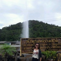 Photo taken at The Highest Hot Spring in Thailand by Sutida P. on 9/12/2012