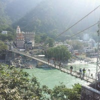 Photo taken at Lakshman Jhula | लक्ष्मण झूला by Nico K. on 11/26/2011