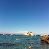 Photo taken at Spiaggia di Torre dell'Orso by G.M. B. on 8/15/2011