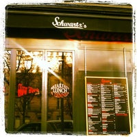 Photo taken at Schwartz's Deli by Ultimate Paris on 11/12/2011