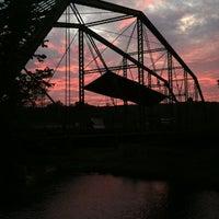 Photo taken at Denniston Hill Truss Bridge by Kevin J. on 8/26/2012