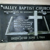 Photo taken at Valley Baptist Church by Mike D. on 8/22/2012