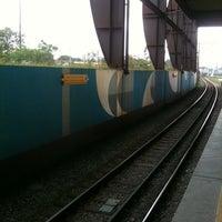 Photo taken at Estação Santo Amaro (Metrô) by Thiago H. on 10/19/2011