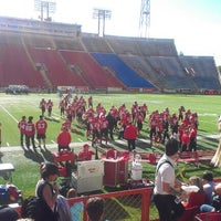 Photo taken at McMahon Stadium by Ante B. on 9/1/2012