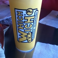 Photo taken at Which Wich? Superior Sandwiches by Molly V. on 3/12/2012