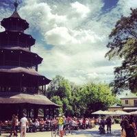 Photo taken at Biergarten am Chinesischen Turm by Philipp R. on 5/27/2012