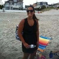 Photo taken at Washington Ave Beach (Ventnor) by Rachael W. on 6/9/2012