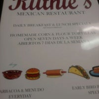 Photo taken at Ruthie's Mexican Restaurant by Aaron T. on 2/22/2012