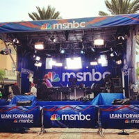 Photo taken at MSNBC Broadcast Stage at Channelside by Laetitia B. on 8/26/2012