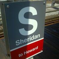 Photo taken at CTA - Sheridan by Waddie G. on 7/7/2012