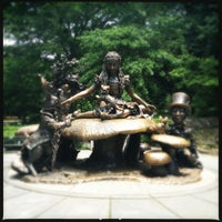 Photo taken at Alice in Wonderland Statue by Elaina L. on 5/27/2012