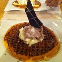 Photo taken at Crepes & Waffles by Carolina R. on 7/12/2012