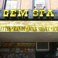 Photo taken at Gem Spa by Aerik V. on 4/17/2012