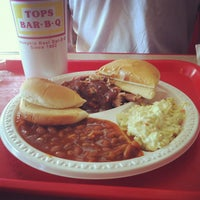 Photo taken at Tops Bar-B-Q by lydia w. on 8/28/2012