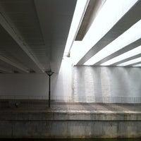 Photo taken at Bridge @ Punggol Walk by Victor T. on 2/27/2012