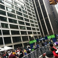 Photo taken at NYRR NYC Half 2012 - Finish Line by Frani L. on 3/18/2012
