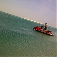 Photo taken at Al Dabiya Beach by Fatima M. on 4/13/2012