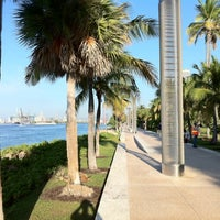Photo taken at South Pointe Park by Ambrogio C. on 10/13/2011