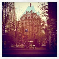 Photo taken at Burrard SkyTrain Station by Shanti S. on 5/4/2011