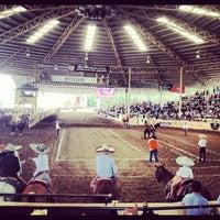 Photo taken at Lienzo Charro Santa Maria by Fernando G. on 9/1/2012