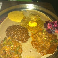 Photo taken at Ras Dashen Ethiopian Restaurant by Molly G. on 10/23/2011