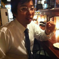 Photo taken at 魚もつ鍋 魚呑 うおどん 高円寺店 by K S. on 5/9/2012