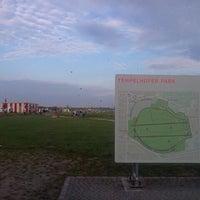 Photo taken at Tempelhofer Park by Eva on 10/3/2011