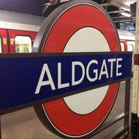 Photo taken at Aldgate London Underground Station by Florian S. on 7/24/2012