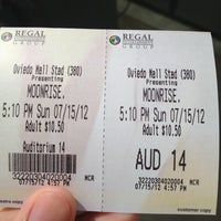 Photo taken at Regal Cinemas Oviedo Mall 22 by Joey on 7/15/2012