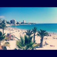 Photo taken at Playa La Albufereta by Luciana on 9/2/2012
