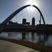 Photo taken at Pedestrian Bridge by Mike B. on 2/27/2012