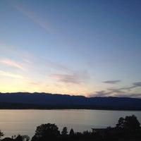 Photo taken at Cologny view by Zhibek M. on 5/7/2012