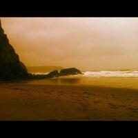 Photo taken at Tresaith Beach by Samantha E. on 4/29/2012