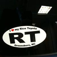 Photo taken at Rice Toyota by David K. on 5/18/2012