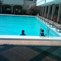 Photo taken at Manyar swimming pool by Fauziah S. on 4/29/2012