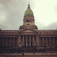 Photo taken at Plaza del Congreso by Daniel M. on 3/27/2012
