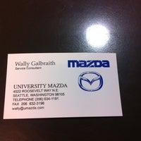 Photo taken at University Mazda by Walter G. on 10/11/2011