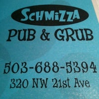 Photo taken at Schmizza Pub & Grub on 21st by Justen M. on 12/21/2011