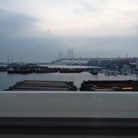 Photo taken at Yokohama Bay Bridge by u1o on 7/27/2012